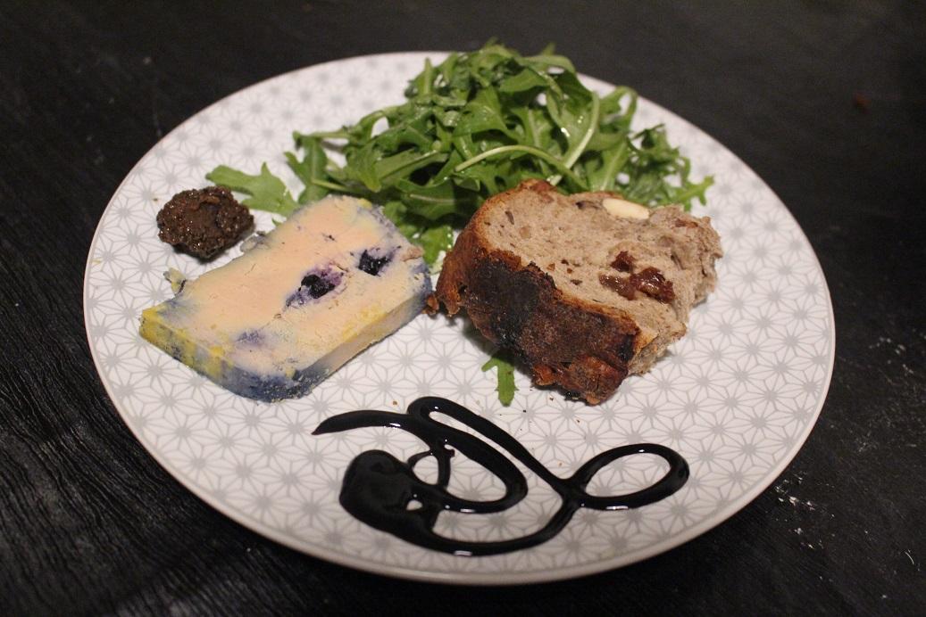 Foie gras aux myrtilles