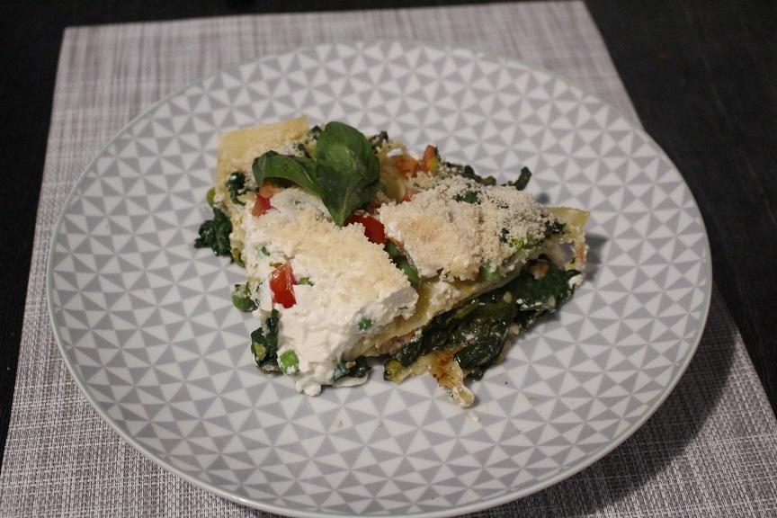 Lasagnes de cabillaud et saumon aux épinards