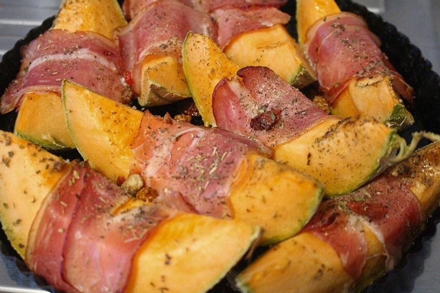 Crousti fondant de Melon au jambon